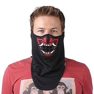Calli Outdoor Winter Wärmer Sport halbe Gesichtsmaske 3D Printed Dreieckstuch Ski Maske