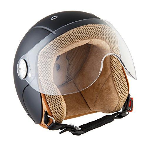SOXON SK-55 Kids Night Biker Casque Jet pour Enfant Helmet Mofa Demi-Jet...