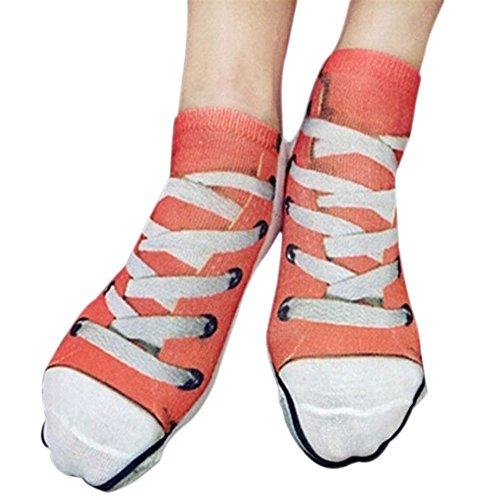 Wingbind Unisex 3D Neuheit Kreative Muster Crew Socken mit Schweinefleisch Skelett 100 Dollar Muster Erdbeere Segeltuchschuhe EIS Lion Muster - Zeigen Jugend-socken