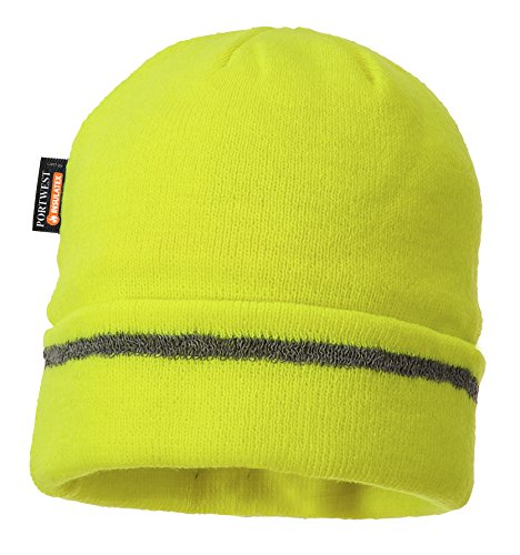 Portwest Workwear Reflective Trim Knit Hat Thinsulate® Lined - B023 - EU / UK Gelb