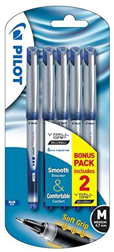 Pilot 0,7 mm Vball Grip bolígrafo de tinta líquida - Azul (5 UNIDADES)