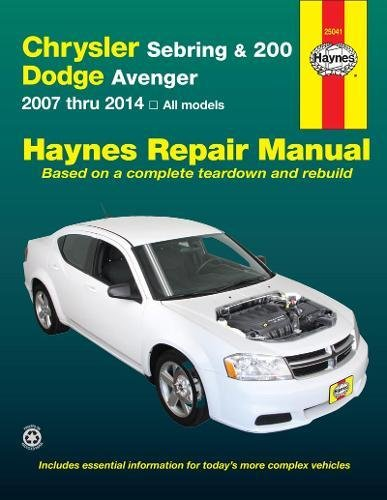 Chrysler Sebring & 200 Dodge Avenger Automotive Re (Haynes Repair Manual)