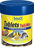 Tetra Tablets TabiMin Hauptfutter (Futtertabletten für am Boden gründelnde Zierfische, Multitabletten-Formel enthält Shrimps Seetang Carotinoide für bessere Akzeptanz), 120 Tabletten Dose