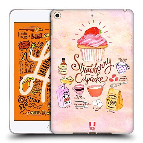 head case designs cupcake fragola ricette illustrate cover in morbido gel compatibile con ipad mini (2019)