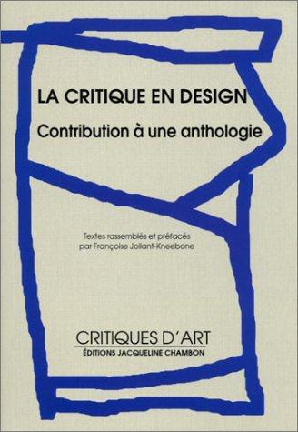 La critique en design : Contribution à une anthologie par Collectif