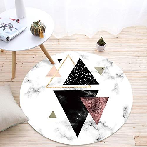 Nordic Geometrischen Runden Teppich Wohnzimmer Couchtisch Matte Kreative Marmor Schlafzimmer Kissen Durchmesser 120 cm