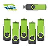 EASTBULL 4GB Speicherstick 2.0 USB Sticks Data Datenspeicher, 5 stück Grün