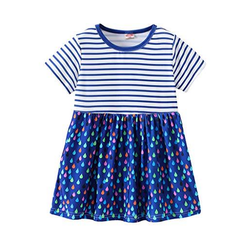 Hello Kitty Kleinkind Kleider - REALIKE Kinder Baby Mädchen Kurzarm Kurze