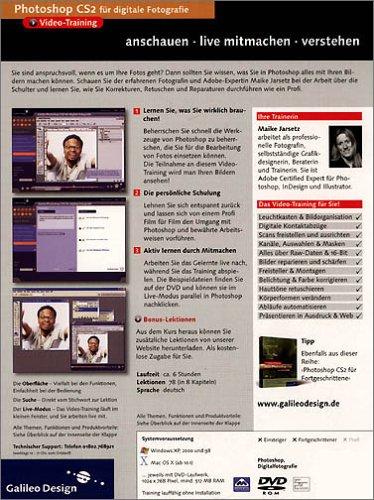 Adobe Photoshop CS2 für digitale Fotografie - Das Video-Training auf DVD