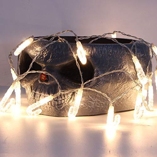 (Weihnachten Lichterkette FeiliandaJJ 1.2M 10LED Krücke Wasserdicht LED Licht Dekoration für Outdoor, Terrasse, Rasen, Landschaft, Märchengarten, Haus,Weihnachtsbaum String Lights 2xAABatterien (Warmweiß))