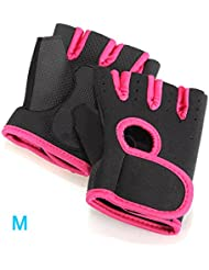 Gants sport halterophilie aviron Boxe Fitness Bodybuilding Gym Velo Cyclisme VTT Sport Gloves fitness musculation M noir rose