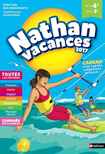 Nathan Vacances 2017 - 4/3me - Cahier de vacances