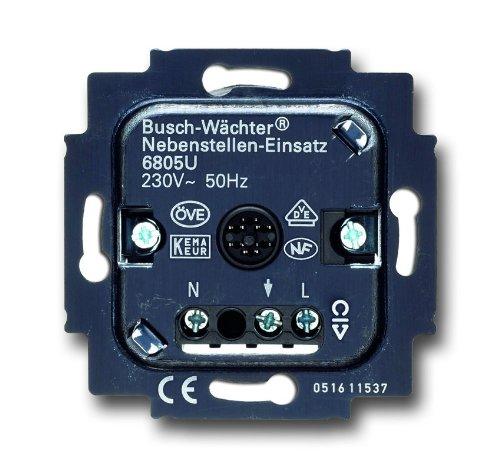 Busch-Jaeger 6805U Busch-Wächter Nebenstellen-Einsatz  6805 U
