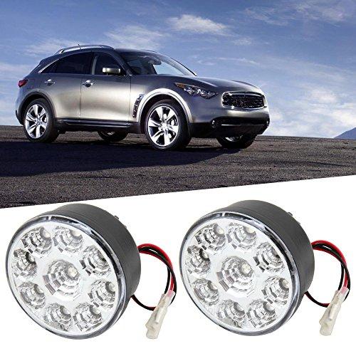 2pcs 2.7W LED DRL Lampe Running Light Flut Beam Off-Road Auto LKW Boot (Farbe: schwarz)