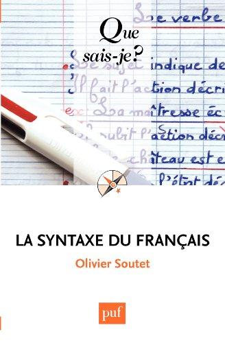La syntaxe du franais:  Que sais-je ?  n 984