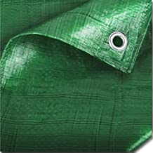 Strong Green Waterproof Tarpaulin Ground Sheet Covers For Camping, Fishing, Gardening & Pets - 3.5m x 3.5m / 12ft x 12ft - Comes With TCH Anti-Bacterial Pen!