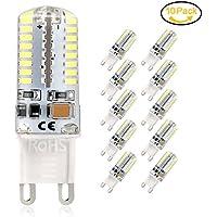 Lampadina LED G9, 5Watt LED Lampadina , Equivalente a 45W Lampada Alogena, 400LM, Bianco Freddo 6000K, AC 220 -240V, Angolo di visione 360°, Confezione da 10 by Jpodream (Bianco Freddo 6000K)