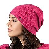 Kamea Bari Dame Mütze Wintermütze Kopfbedeckung, Dunkelpink,Uni