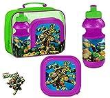 Ninja Turtles TMNT Tasche mit Pausenbox / Brotdose und Trinkflasche