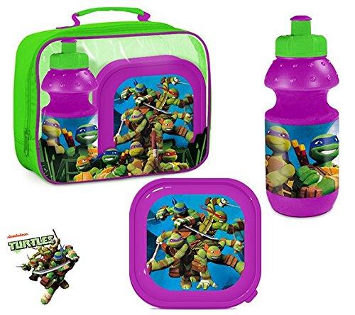 Ninja Turtles TMNT Tasche mit Pausenbox / Brotdose und (Ninja April Von Turtles)