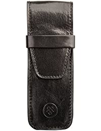 Maxwell-Scott® Handcrafted Italian Full Grain Leather Pen Holder - Luxury Quality Gift (The Pienza)