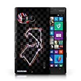 Carcasa/Funda STUFF4 dura para el Nokia Lumia Icon / serie: 2014 pista f1 - Gran bretaña/silverstone