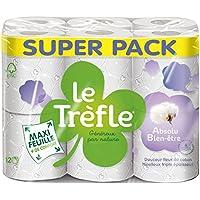 LeTrefle Maxi Feuille Absolu Bien-Etre Papier Toilettes 3 Voiles 12 Rouleaux