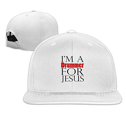 JAX D Unisex I 'm a Drummer für Jesus verstellbar Baseball Kappen Hat Navy, unisex, weiß