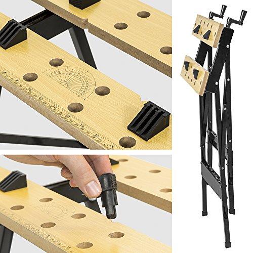 TecTake Werkbank A Gestell klappbar Tisch mit Klemme - 5