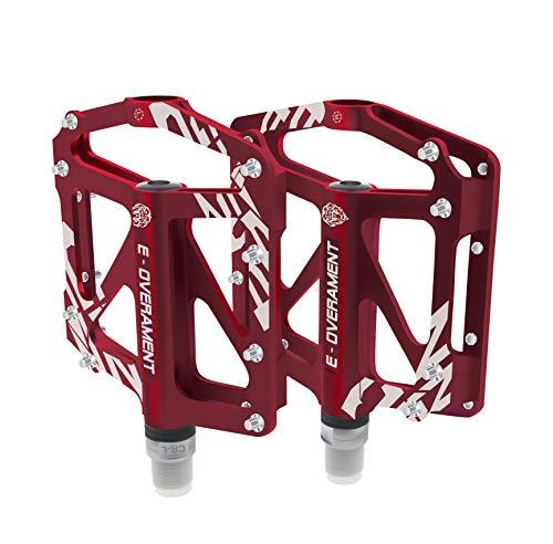 Pedali da Ciclismo Flat MTB, Bmx in Alluminio Ultra leggeri e Antiscivolo - Mountain Bike, Bicicletta da Strada e per Bicicletta Pieghevole - Extra tool per Pedale - Pedali Bici Certificati