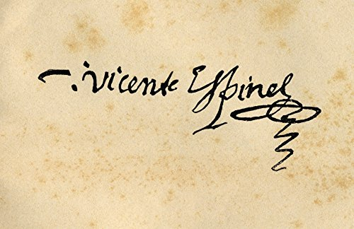The Poster Corp Ken Welsh/Design Pics - Signature of Vicente Espinel 1550-1624. Spanish Writer and Musician. Photo Print (45,72 x 27,94 cm) -