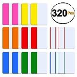 SIQUK 320 Piezas Fichas Índice de 2 pulgadas Fichas adhesivas Marcadores de página de color Dispensadores de cinta adhesiva para leer notas, libros y carpetas de archivos, 8 conjuntos de 6 colores
