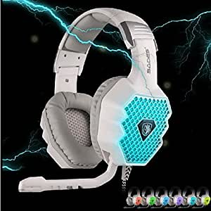 Guang A70 USB Gaming Casque 7.1 sonore avec micro LED respiration TšŠlšŠcommande Light pour PC