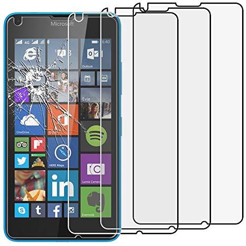 ebestStar - Pack x3 Verre trempé Compatible avec Microsoft Lumia 640 LTE Dual Film Protection Ecran Vitre Protecteur Anti Casse, Anti-Rayure, Pose sans Bulles [Appareil: 141.3 x 72.2 x 8.8mm, 5.0'']