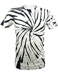 Tie Dye Black / White Negative Spiral 701975 T-Shirt