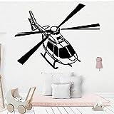 HNXDP Hélicoptère Sticker Mural Décoration de La Maison Pour Les Chambres Des Enfants Décoration Murale Art Mural Drop Shipping Noir M 28 cm X 36 cm