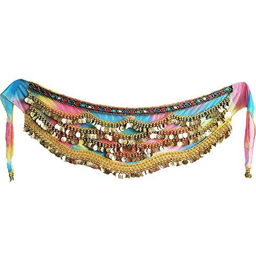 Bauchtänzerin Kostüm Sexy - Wingbind Bauchtanz Hüfttuch Perlen Frauen Pailletten Bauchtänzerin Kostüme Zubehör Sexy Schal für Karneval Party
