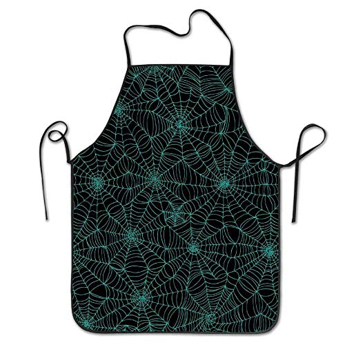 KENETOINA Spider Web Spooky Halloween Horror Goth Spiders Waterproof Chef Aprons (Spider Web Nails)