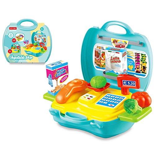 Wudi Pretend Lernspielzeug für Kleinkinder Kinder Tool Box Küche Spielzeug Lernspielzeug Feeding Gantry