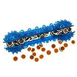 Tyker - Leckerli-Spender für Hunde - Interaktives Hundespielzeug aus Gummi - Knochen - blau