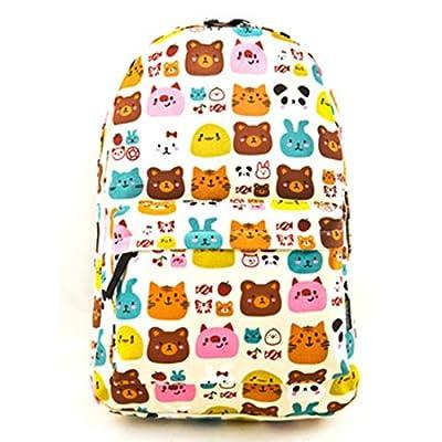 Cute Ladies Girls Moire Canvas Satchel Rucksack Backpack Shoulder School Bag