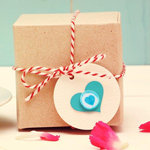 500 g Rocks Herz-Bonbons - süße Tisch-Deko zu Hochzeit Taufe Valentinstag Muttertag Kommunion - Handarbeit zum Naschen - Blau-Weiß - 7