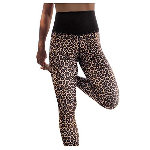 VPASS Mujer Pantalones,Elásticos Estampado de Leopardo Moda Pantalones de Yoga Mujer Fitness Mallas Gym Slim Fit Pants Largos Pantalones Leggings Cintura Alta Deportivos Running Aptitud Jogging