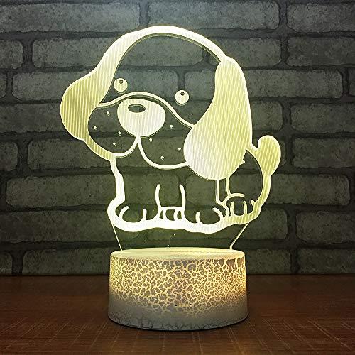 BDQZ Hund Großhandel Geschenk Usb 3d Lampe Kreative Heimat LedSchreibtischlampe 7 Farbe Touch Persönlichkeit Tischlampen Für Wohnzimmer