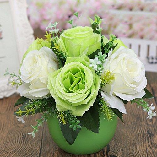 Eine moderne, minimalistische Möbel orb Vasen Schreibtisch eine kleine frische Blumen Emulation Suite Wohnzimmer setup für, SD Blumen verbringen.