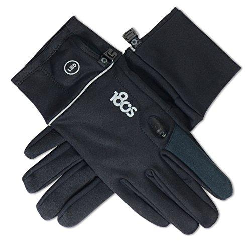 180`s Foundation Damen Handschuhe mit Integrierter LED-Beleuchtung für Kapazitive Touchscreens sowie Sport, Fahrradfahren, Fitness - Schwarz  Größe M   180GLWMBK (180s Handschuhe)