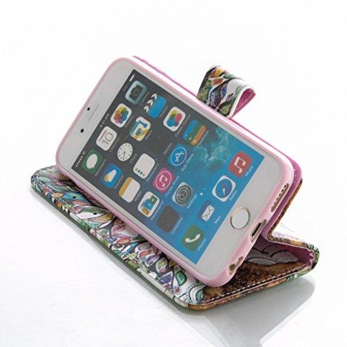 """Trumpshop Smartphone Case Coque Housse Etui de Protection pour Apple iPhone 6/6s Plus 5.5"""" + Arbre Coloré + Ultra Mince Smartcoque Portefeuille PU Cuir Fonction Support Anti-Choc Arbre Coloré"""