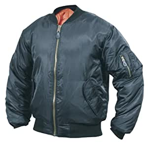 Mil-Com MA1 Flight Jacket - Black, Small