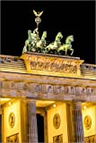 Posterlounge Leinwandbild 80 x 120 cm: Brandenburger Tor