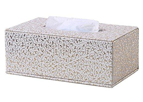 LAMEIDA Caja de Pañuelos de Cuero PU Impermeable Europeo Estilo Portapañuelos de Papel Kleenex para Casa Baño Coche Dormitorio Sala de Estar Hotel Restaurante Club Bar Oficina Decoración